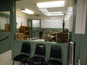 The main office within the B reactor building. Great scientists like Enrico Fermi worked within this office.